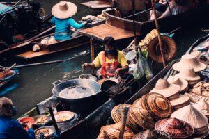 Mercadillo flotante. Bangkok