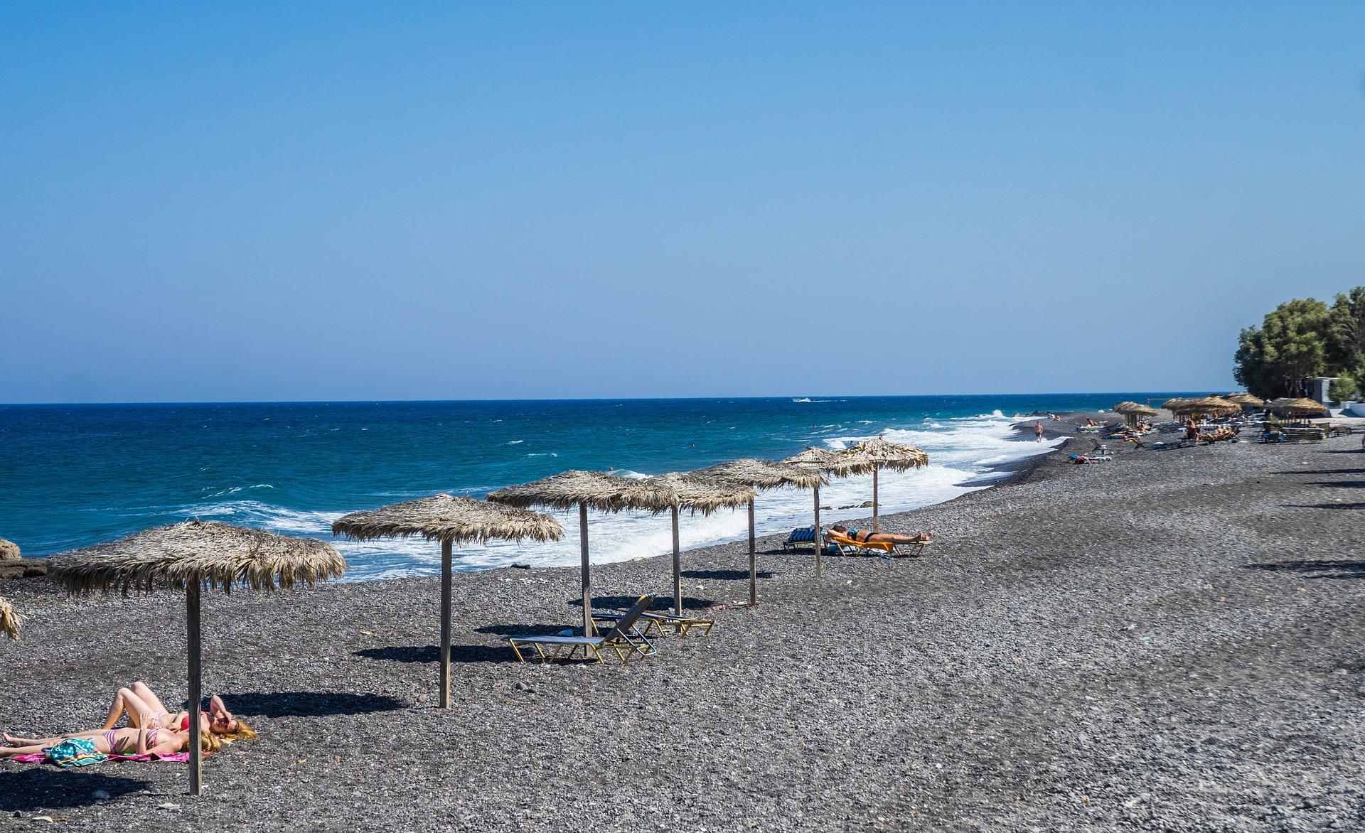 Playa Kamari. Santorini