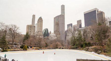 Pista de patinaje en Central Park. Nueva York